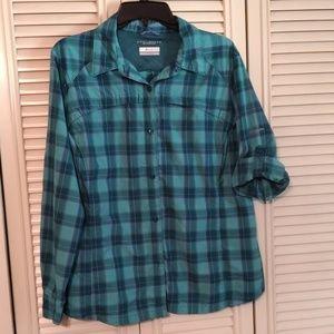 Ladies Columbia Omni-Shade Button Down Shirt